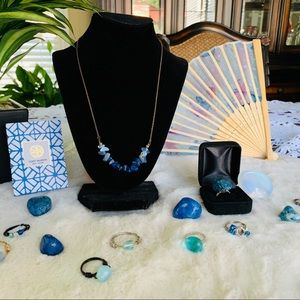 Tumbled Blue Stone Necklace